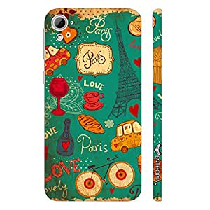 HTC Desire 826 PARIS LOVE designer mobile hard shell case by Enthopia