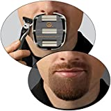 GoateeSaver : The #1 Original Goatee Shaving Template For Men - For a Fast, Easy & Flawless Shaving Result - Adjustable Fit For All Your Needs - Get A Symmetrical, Balanced Goatee Without Struggling