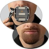 GoateeSaver - The Goatee Shaving Template - Create a Perfectly Shaped Goatee Every Time - Easy to Use and Easy to Clean - Adjustable and Fits Most Face Sizes - Saves Shaving Time