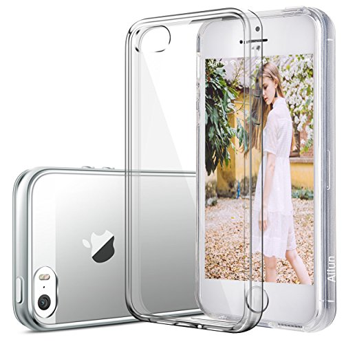 iPhone 5s case,iPhone SE case,iPhone 5 case,by Ailun,Shock-Absorption Bumper TPU Clear cover iphone 5s case[Crystal Clear]