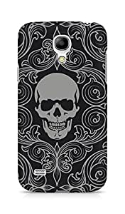 Amez designer printed 3d premium high quality back case cover for Samsung Galaxy S4 Mini (Skull Pattern)