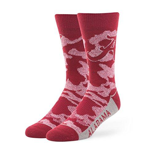 NCAA Alabama Crimson Tide Men's '47 Bayonet Casual Dress Crew Socks, Razor Red, Large, 1-Pack