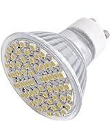 6X GU10 AMPOULE LAMPE BULB A 60 SMD LED BLANC CHAUD 4.5W