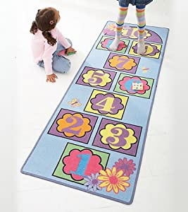 HearthSong Hopscotch Nonskid Indoor/Outdoor Play Mat
