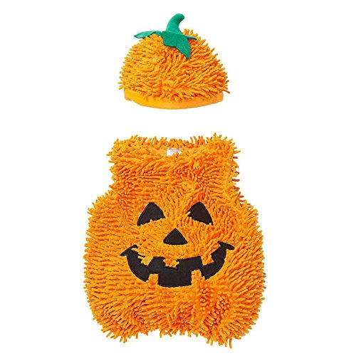 Koala Kids Infant Boys & Girls Plush Orange Pumpkin Costume with Hat 18 Months