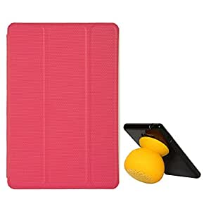 VG Ultra Thin Protective Smart Case Cover with Sleep Mode and Stand for Apple iPad Mini (Magenta) + Bluetooth Suction Stand Speakers