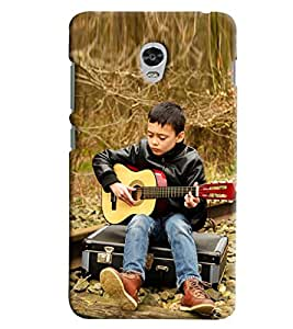 Blue Throat Boy Playing Guitar Hard Plastic Printed Back Cover/Case For Lenovo Vibe P1