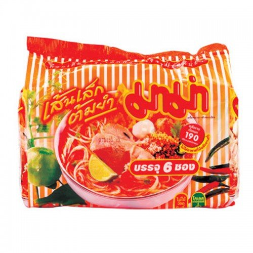 Mama Rice Vermicelli Shrimp Tom Yum 55 g. Pack 6 (Extreme Cheese Gold Fish compare prices)