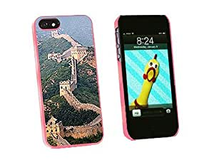 Graphics and More Great Wall of China Snap-On Hard Protective Case for iPhone 5/5s - Non-Retail Packaging - Pink