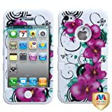 Product B008V9CPUA - Product title MYBAT IPHONE4AVHPCTUFFIM014NP Premium TUFF Case for iPhone 4 - 1 Pack - Retail Packaging - Morning Petunias/Solid White