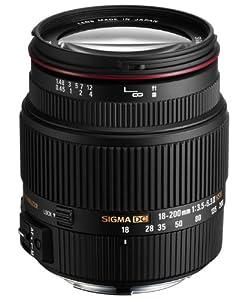 Sigma 18-200/3,5-6,3 II DC OS HSM Objektiv (62mm Filterdurchmesser) für Sigma