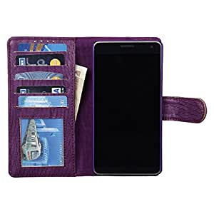 Dsas Artificial Leather Wallet Flip Cover designed for Sony Xperia E3