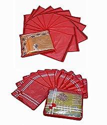 Single Packing Saree Cover 12 Pcs Set & Bow Saree Cover 12 Pcs Set