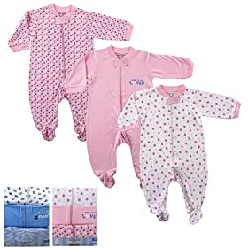 3-Pack Zippered Sleep N Play