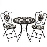Mosaiksitzgarnitur ORIENTAL 2x Stuhl + 1 Tisch Sitzgruppe...