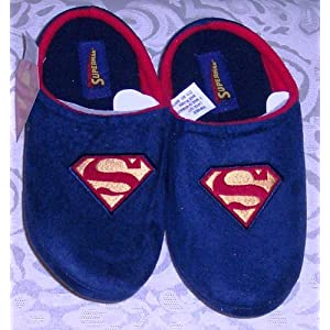 f0c9d9d3fb DC Comics SUPERMAN Embroidered Flc Clog Slippers Navy Blue Adult Medium (M)  on PopScreen
