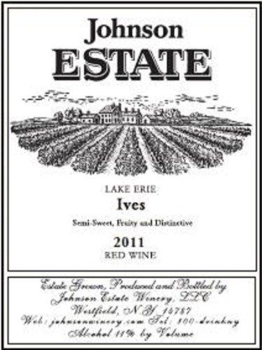 2011 Johnson Estate Lake Erie Ives Red Wine 750 Ml