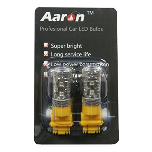 2Pcs Aaron High Power Amber 60W 3156 3157 Samsung Chip Led Lights Bulbs For Blinker Turn Signals Drl Day Time Running Lights