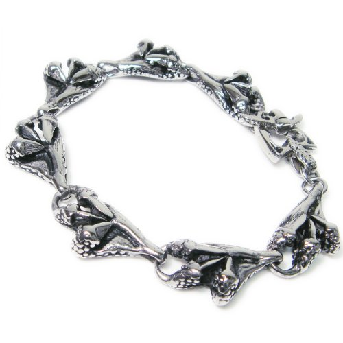 Stainless Steel Dragon Claws Link Men Biker Bracelet 9