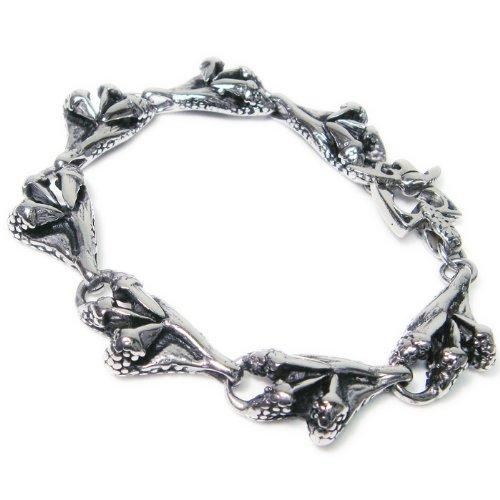 Stainless Steel Dragon Claws Link Men Biker Bracelet 9