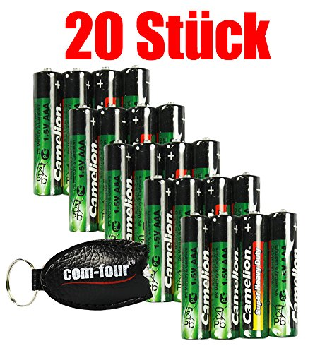 Camelion by cOM-four ® 1,5 v piles de super heavy duty - AAA R03P - 20 Stück