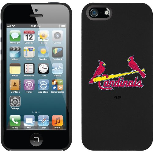 Special Sale St. Louis Cardinals - 2 Cardinals design on a Black iPhone 5 Thinshield Snap-On Case by Coveroo