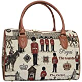Signare Womens Fashion Canvas Tapestry Travel Weekend Overnight Bag in London Royal Guard Design