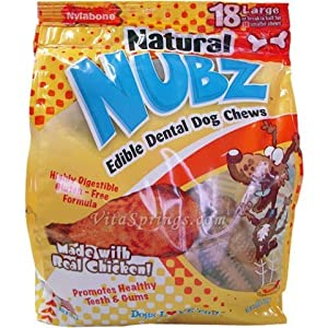 NUBZ Edible Natural Dental Dog Chews 2.2 Lbs