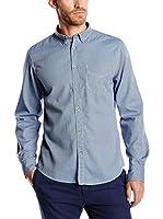 Springfield Camisa Hombre Dobby (Azul)