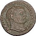 LICINIUS I Constantine I the Great enemy Ancient Roman Coin Genius Cult i37583