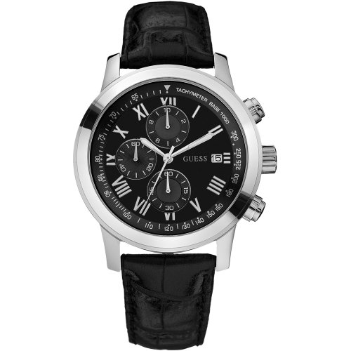 guess-herren-armbanduhr-xl-analog-leder-w13087g1