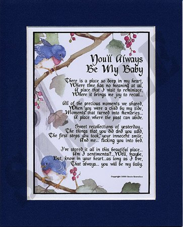 Easter or mother s day gift for a son or daughter 8x10 touching poem