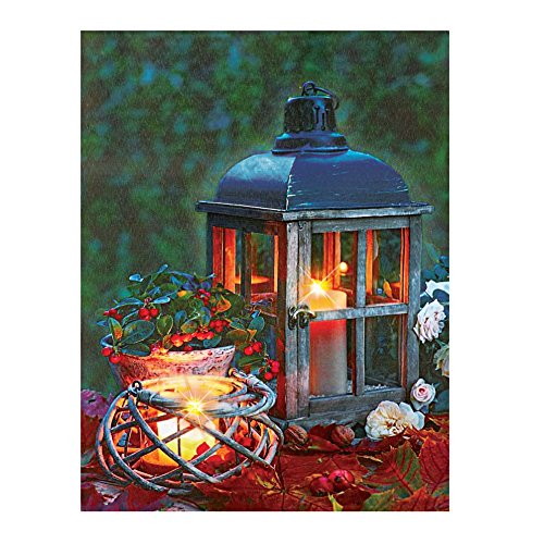 LED Lighted Lantern Print Canvas Wall Art (Bbq Canvas Art compare prices)