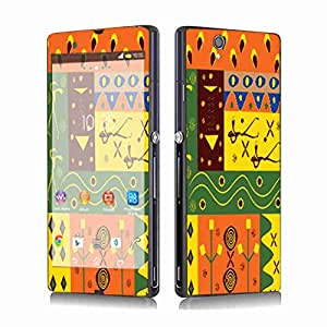 Skintice Designer Mobile Skin Sticker for Sony XperiaZ, Design - African Pattern