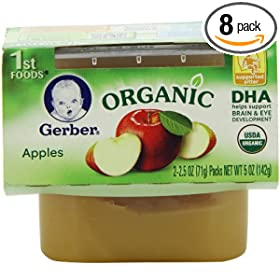 Gerber 1st Foods Organic, 2-Count, 5-Ounce Units (Pack of 8)