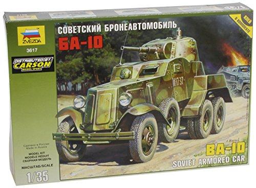 Zvezda-500783617-135-WWII-Soviet-BA-10-Gepanzertes-Fahrzeug