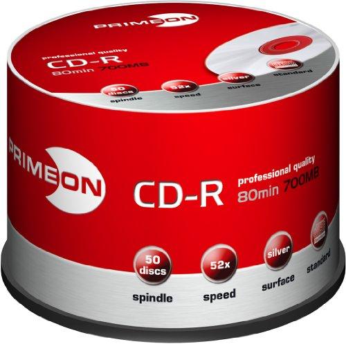 RED PROTECT CD-R, 80 min, 700 MB, 52x, boîte de 50 qualité Premium, couvert d'une couche de pro...