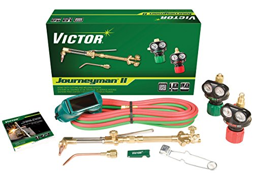 Victor Technologies 0384-2041 Journeyman II Heavy Duty Cutting System, Acetylene Gas Service, ESS4-15-510 Fuel Gas Regulator (Oxy Cutter compare prices)