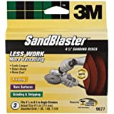 3M SandBlaster 9677 4-1/2-Inch Assorted Grits Right Angle Grinder Sanding Discs, 3-Pack