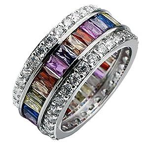 HERMOSA Morganite Topaz Garnet Amethyst Ruby Aquamarine 925 Sterling Silver Ring (12)