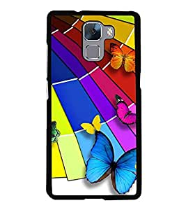 Vizagbeats Color butterflies Back Case Cover for HUAWEI HONOR 7