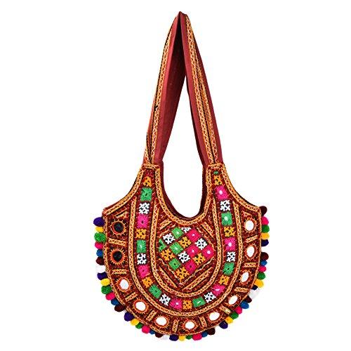 ae-Multicolour-with-Mirror-Kutchi-work-handbag-Ethnics-of-Kutch-Womens-Multi-Colour-Traditional-Kutch-Handicrafts-Tote-Bag
