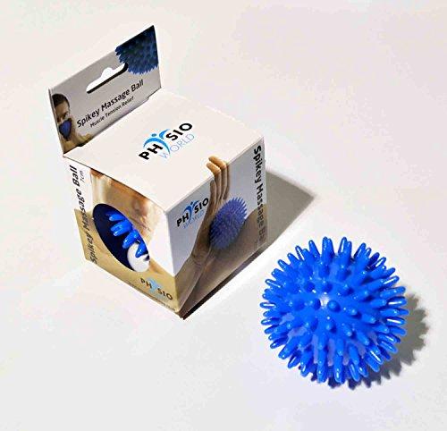 PhysioWorld  Massageball, genoppt, 7 cm / 9 cm, Blau / Pink Blau blau 7cm