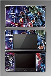 Avengers 2 Iron Man Thor Captain America Hulk 3 Spider-Man Video Game Vinyl Decal Skin Cover Protector for Nintendo 3DS