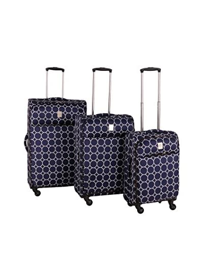 Jenni Chan Aria Park Ave 3-Piece Luggage Set, Navy