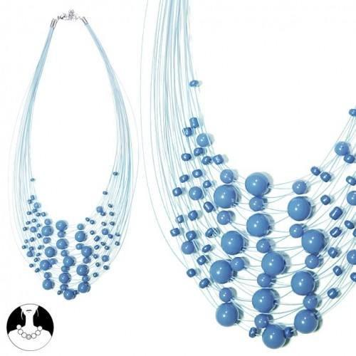 sg paris teenager necklace necklace 40cm+ext blue plastic