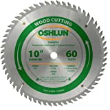Oshlun SBW-100060 10-Inch 60 Tooth ATB Finishing Saw Blade with 5/8-Inch Arbor (Tamaño: 60 Tooth Finishing)