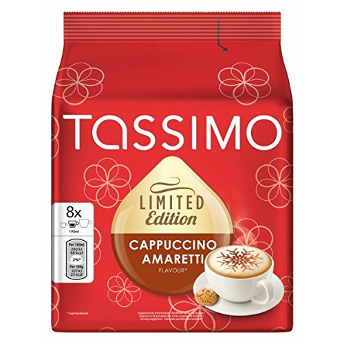 Buy TASSIMO T Discs/ Pods - CAPPUCCINO AMARETTI (Limited Edition) 8 portions / Single servings x 2 Packs = 16 T Discs - Tassimo