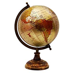 Rotating Desktop Globes Earth Ocean Globe World Geography Table Décor 13\