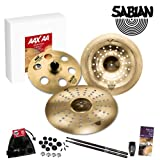 Sabian AAX and AA Pro Genre Power Effects Cymbal Pack with Care Kit, Guide, 5A Drumsticks and Shaker